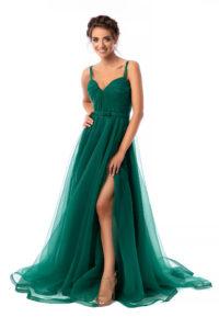 rochie lunga de seara ana radu verde