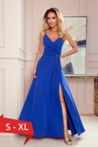 Rochie lunga de seara Chiara, albastru